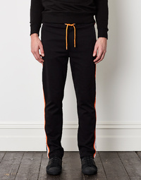 BIKKEMBERGS Black Fleece Trouser with Side Band