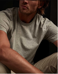 JAMES PERSE - Short Sleeve Crew Neck Tee - Heather Grey