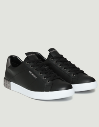 Men's Shieran Lace Up Low Top Sneakers, Black
